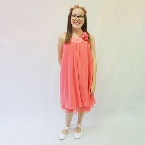 Ashleigh Dress - Coral - RRP: $79