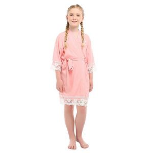 Lace Robe - Coral