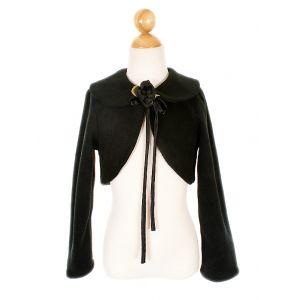 Fleece Bolero Jacket - Black