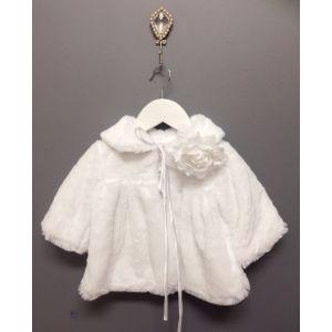 Faux Fur Coat - White