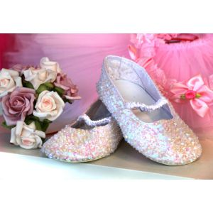 Sequinned Shoes - White