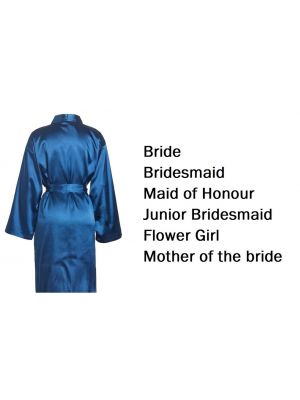 'Personalised Wedding Party Robes - Navy (Adult)