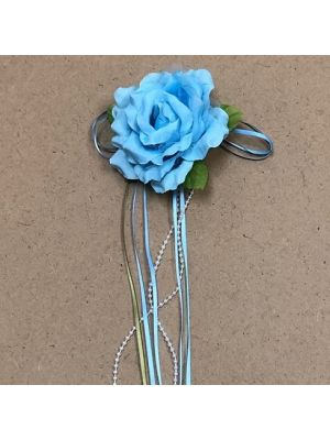 Flower with Ribbon - Baby Blue