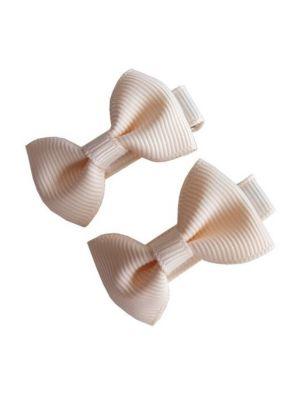 Mini Bow Hair Clips - (2pc) - Ivory