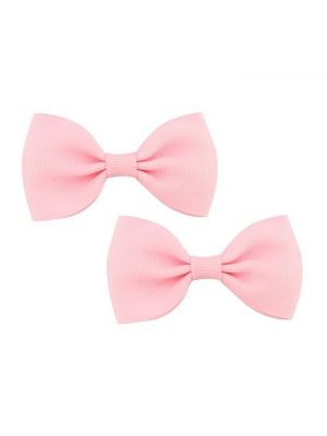 Bow Hair Clips - (2pc) - Light Pink