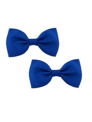 Bow Hair Clips - (2pc) -  Royal Blue