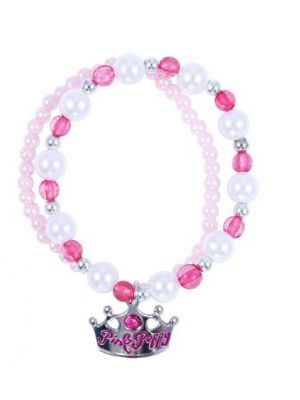Pink Poppy Sweetness & Charms Bracelet - Hot Pink