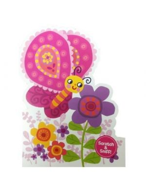 Scratch and Sniff - Butterfly Birthday Card