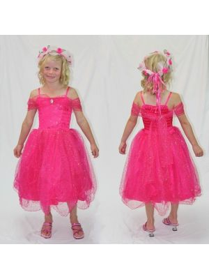 Sparkle Princess Dress - Hot Pink