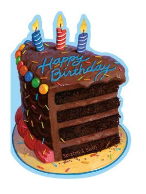 Scratch and Sniff - Chocolate Cake Birthday Card