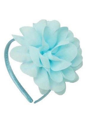 Chiffon Flower Headband - Sky Blue
