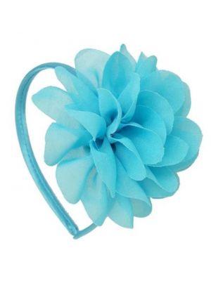 Chiffon Flower Headband - Blue