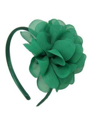 Chiffon Flower Headband - Forrest Green