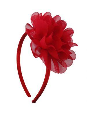 Chiffon Flower Headband - Red