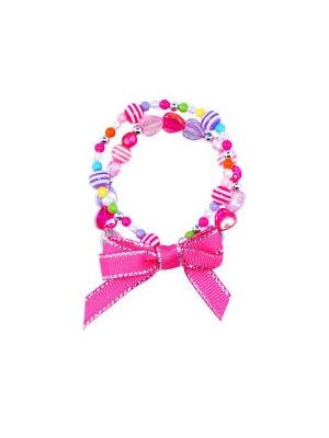 Pink Poppy Double Strand Candy Land Bracelet