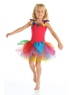Fairy Girls Gumdrop Fairy Dress - Rainbow