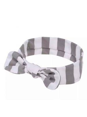 Knot Headband - Grey/White Stripes
