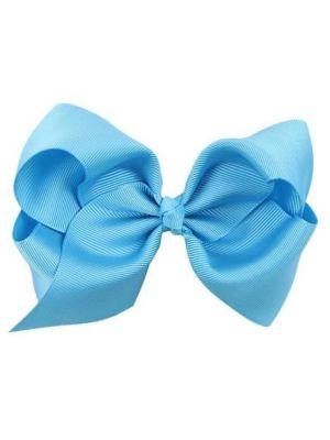Hair Bow Clip - Blue