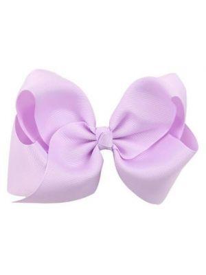 Hair Bow Clip - Lilac