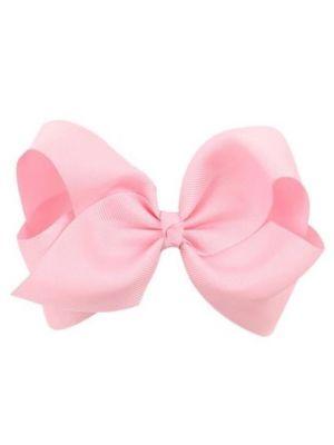 Hair Bow Clip - Light Pink