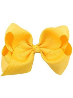 Hair Bow Clip - Yellow