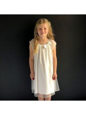 Holly Dress - White/Gold
