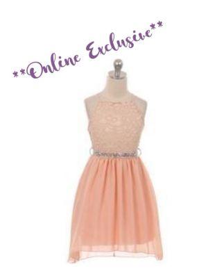 Lana Dress - Peach - Size 5/6