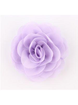 Chiffon Rose - Hair Clips - Lilac