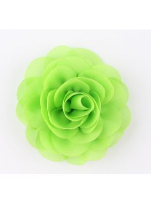 Chiffon Rose - Hair Clips - Lime