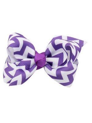 Chevron Bow - Hair Clips - Purple