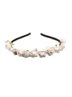 Mini Flower Headband - White