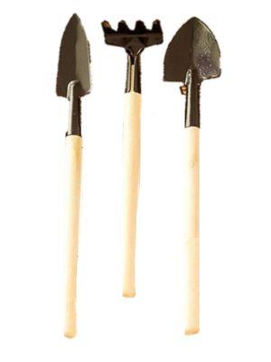 Miniatures 3pc Set Gardening Tools (18cm)