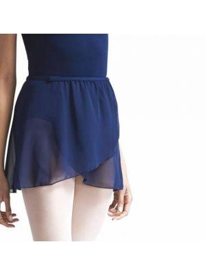 Chiffon Pull On Elastic Skirt - Navy