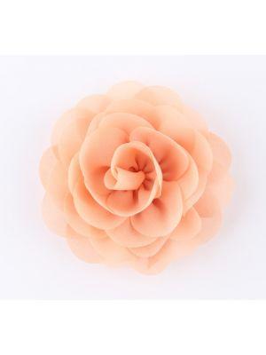 Chiffon Rose - Hair Clips - Peach