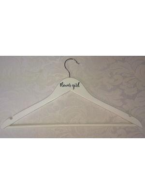 Personalised White Wooden Coat Hangers