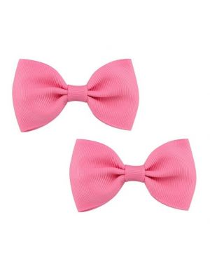 Bow Hair Clips - (2pc) - Pink