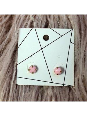 Pierced Earrings - Pale Pink