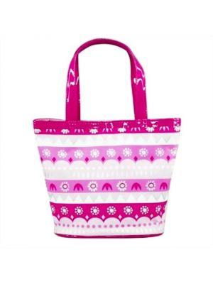 Pink Poppy Fiesta Tote Hand Bag