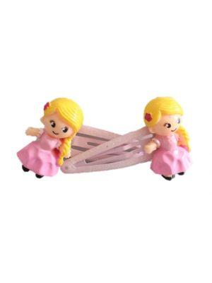 Pink Princess Hair Clips - 2pc