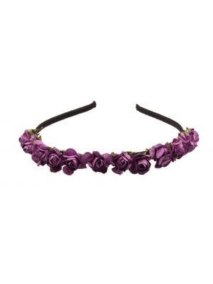 Mini Flower Headband - Purple