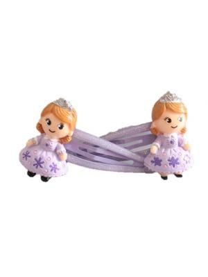 Purple Princess Hair Clips - 2pc