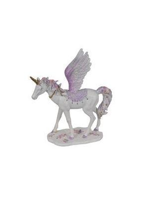 25cm Flying Floral Unicorn - Purple