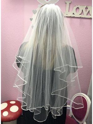 Ribbon Veil - Ivory