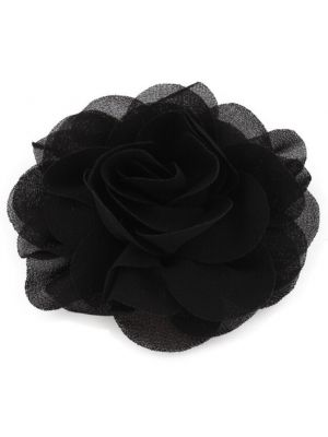 Chiffon Rose - Hair Clips - Black