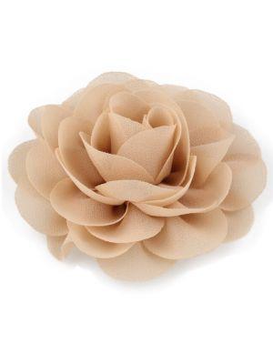 Chiffon Rose - Hair Clips - Champagne
