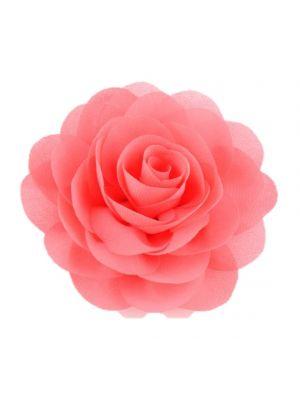 Chiffon Rose - Hair Clips - Coral