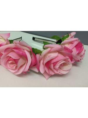 Large Flower Rose Headband - Light Pink