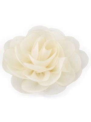 Chiffon Rose - Hair Clips - Ivory