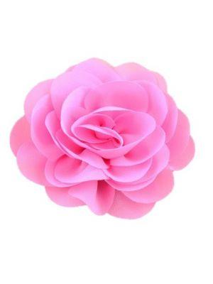 Chiffon Rose - Hair Clips - Pink
