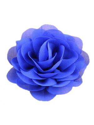 Chiffon Rose - Hair Clips - Royal Blue
